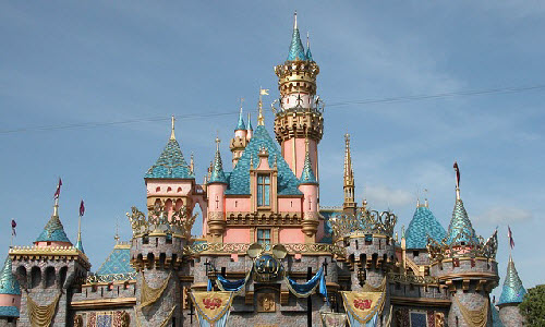 Sleeping Beauty Castle in Anaheim, Disneyland, California