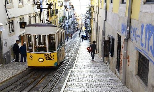Bairro Alto in Lisbon, Portugal