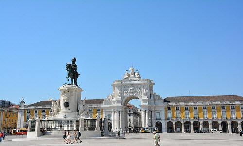 Praça do Comércio in Lisbon, Portugal